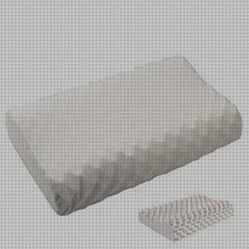 Almohada de Viaje ortop/édica y ergon/ómica con Memory Foam sofi Almohada Acampada 35 x 32 x 11 cm Almohada Camping viscoel/ástica Cervical