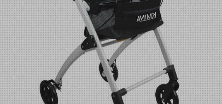 Andador rodante portátil para personas mayores con ruedas, asiento, respaldo y bolsa de almacenamiento, cochecito de ancianos de altura ajustable